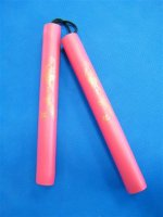 Rubber Nunchaku - Red