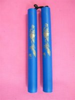 Rubber Nunchaku - Blue